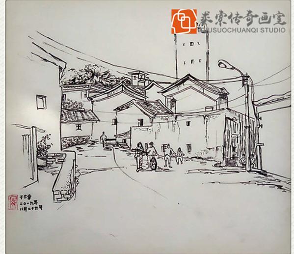 学生外出写生前速写作业-专业武汉美术培训就来武汉